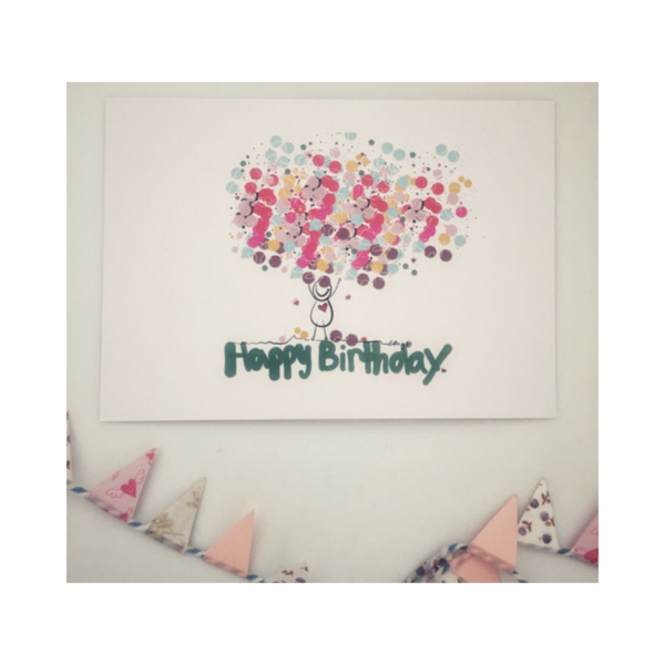 Wertehelden by Wertemanufaktur.com_Postkarte Happy Birthday Konfetti